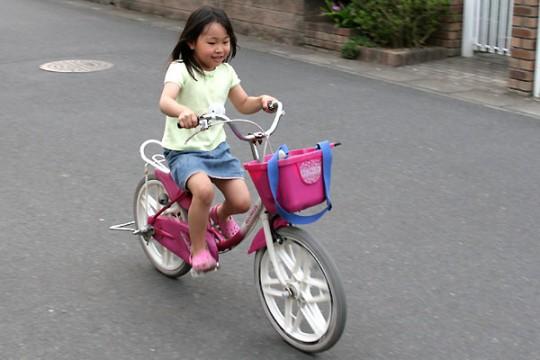 補助輪なし自転車練習