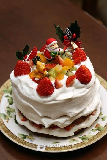 自作クリスマスケーキ
