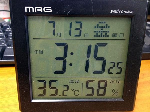 仕事部屋の室温