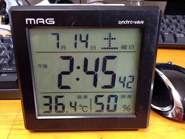 36度超!