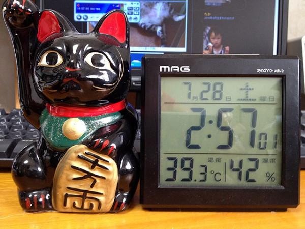 室温39.3度