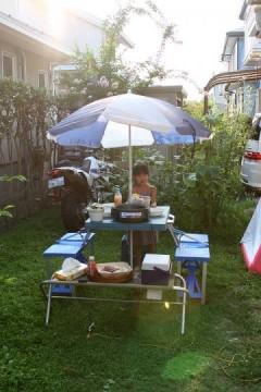 2010年8月19日 プチバーベキュー準備中