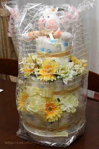 2010年8月29日 おむつケーキが続きます