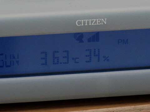2010年8月30日 我が家の温度