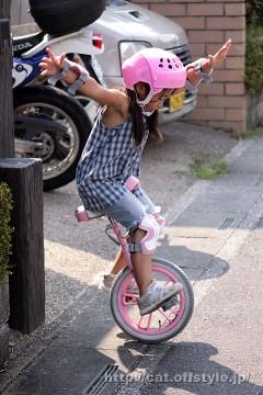 2011年8月15日 初めての一輪車