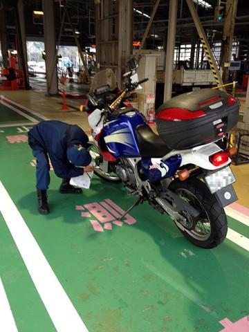 2011年12月8日 バイクのユーザー車検
