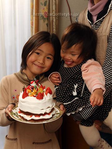 2011年12月23日 自作クリスマスケーキ持参