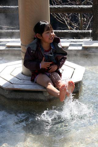 2010年4月5日 足湯あっち~