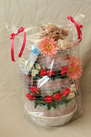 2012年4月23日 おむつケーキ 女の子用 3段タイプ